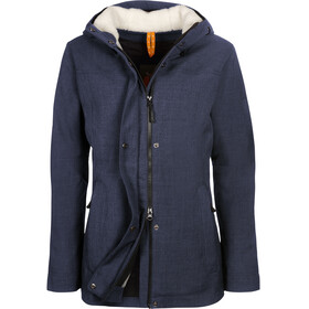 Elkline Short Cut Winter Jacket Women Bluemelange